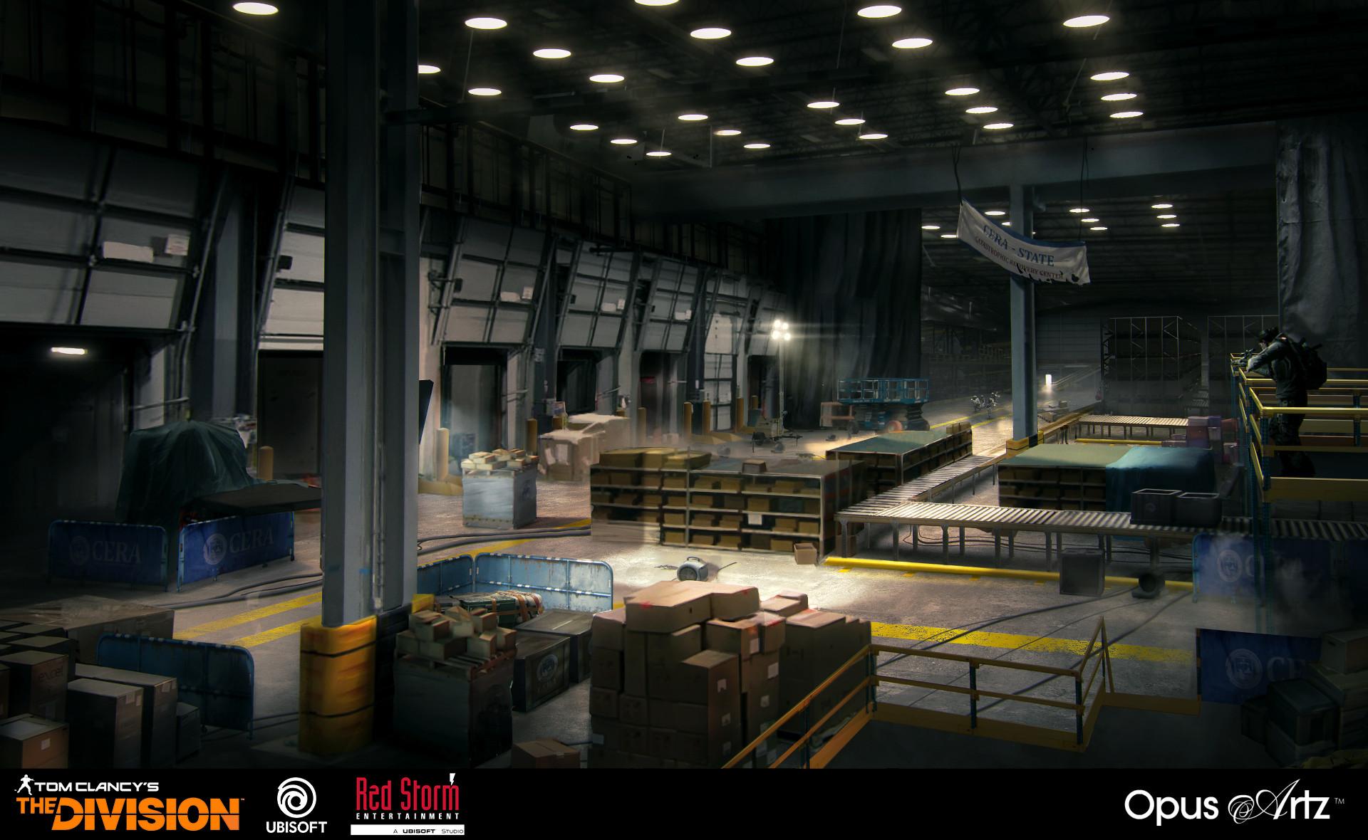 Opus artz shipping bay render