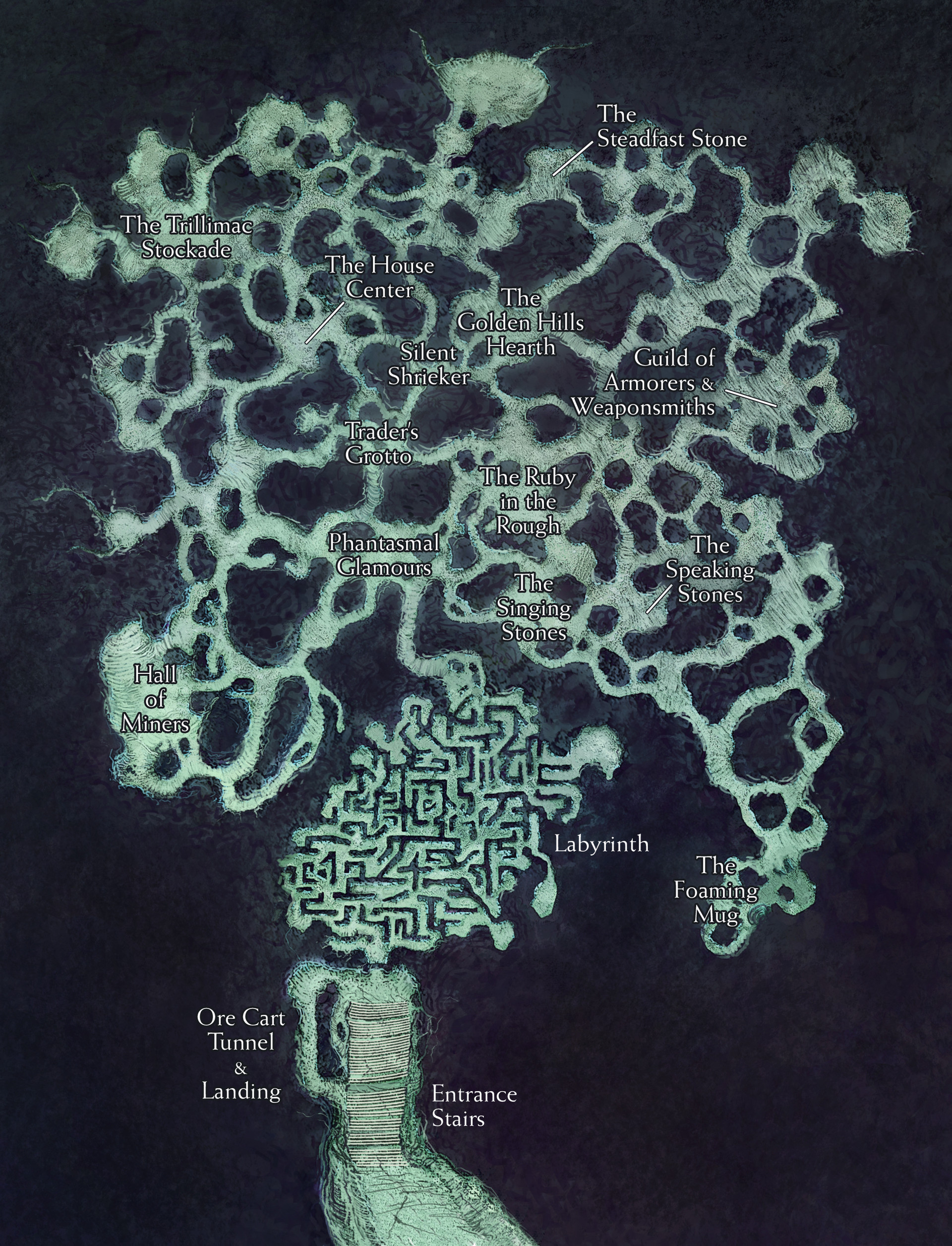 "New art for classic map, ""Blingdenstone"""