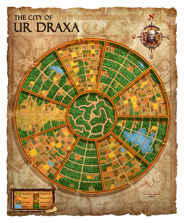 "Dark Sun map, ""Ur Draxa"""