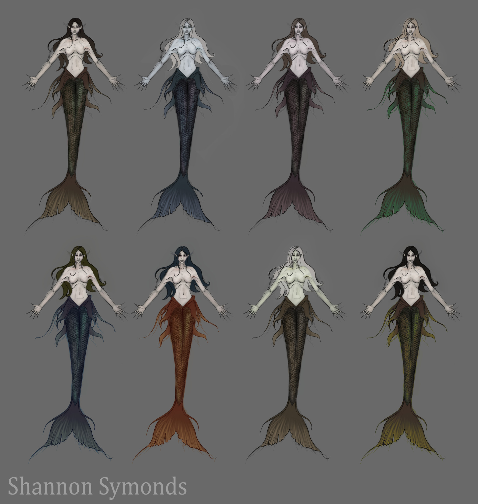 Shannon symonds mermaid colour variations