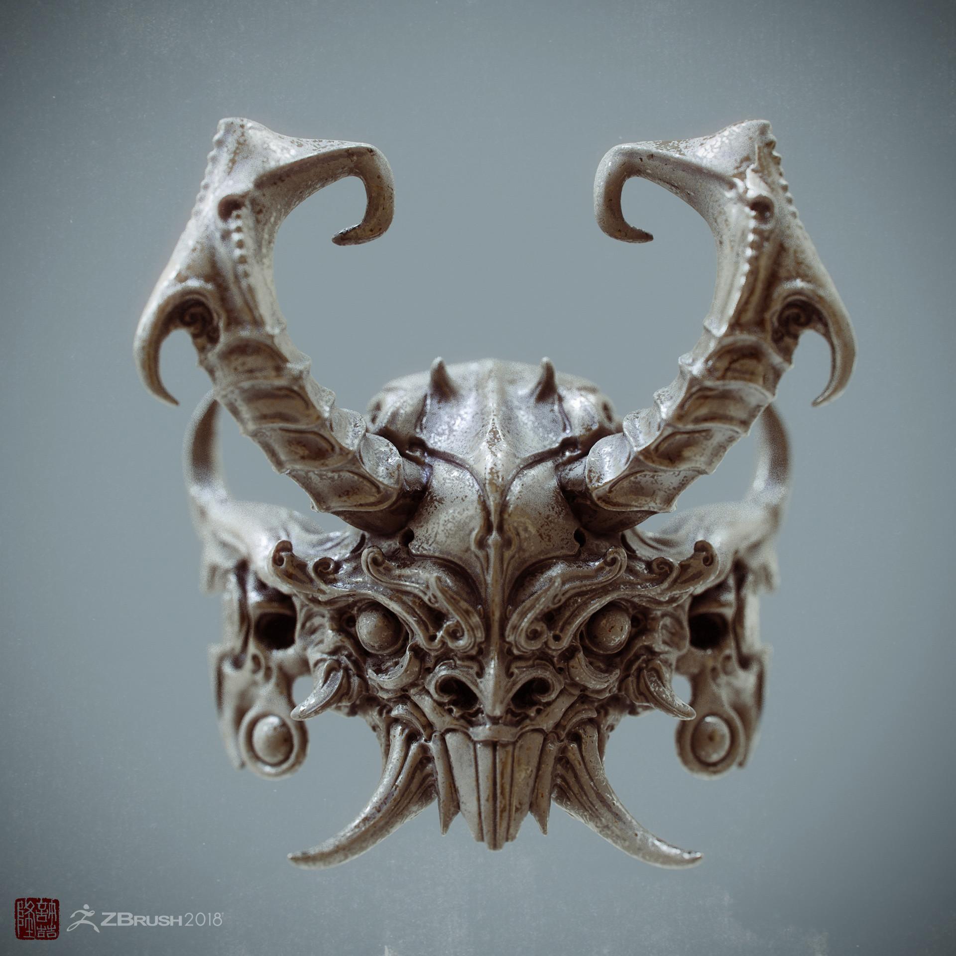 Zhelong xu the ancient mask