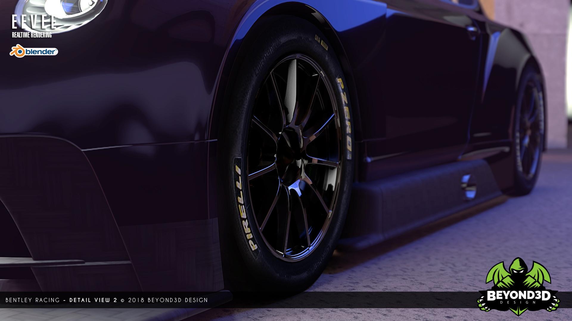ArtStation - Bentley Racing Car, BEYOND 3D