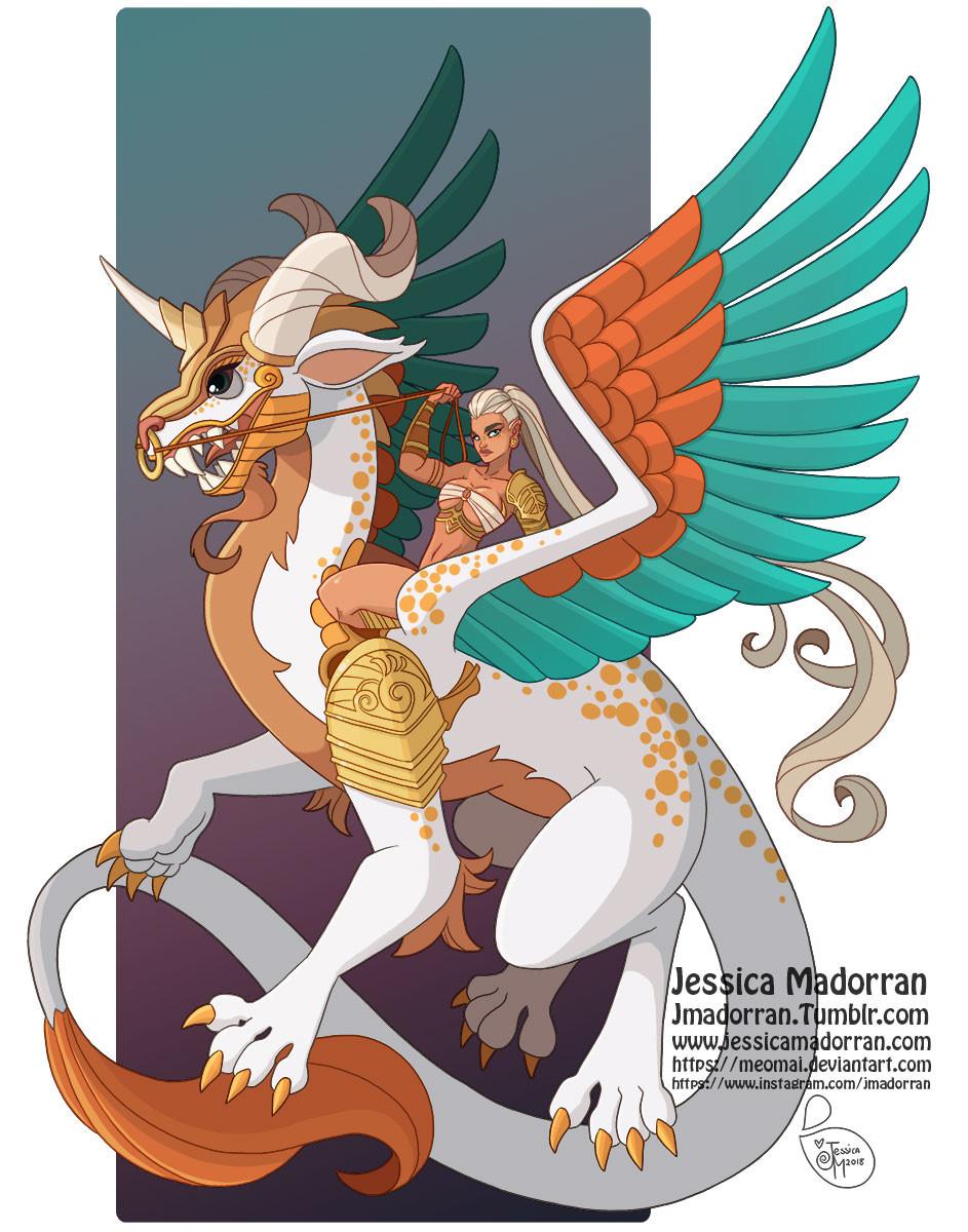 Jessica madorran character design dragon rider 2018 artstation