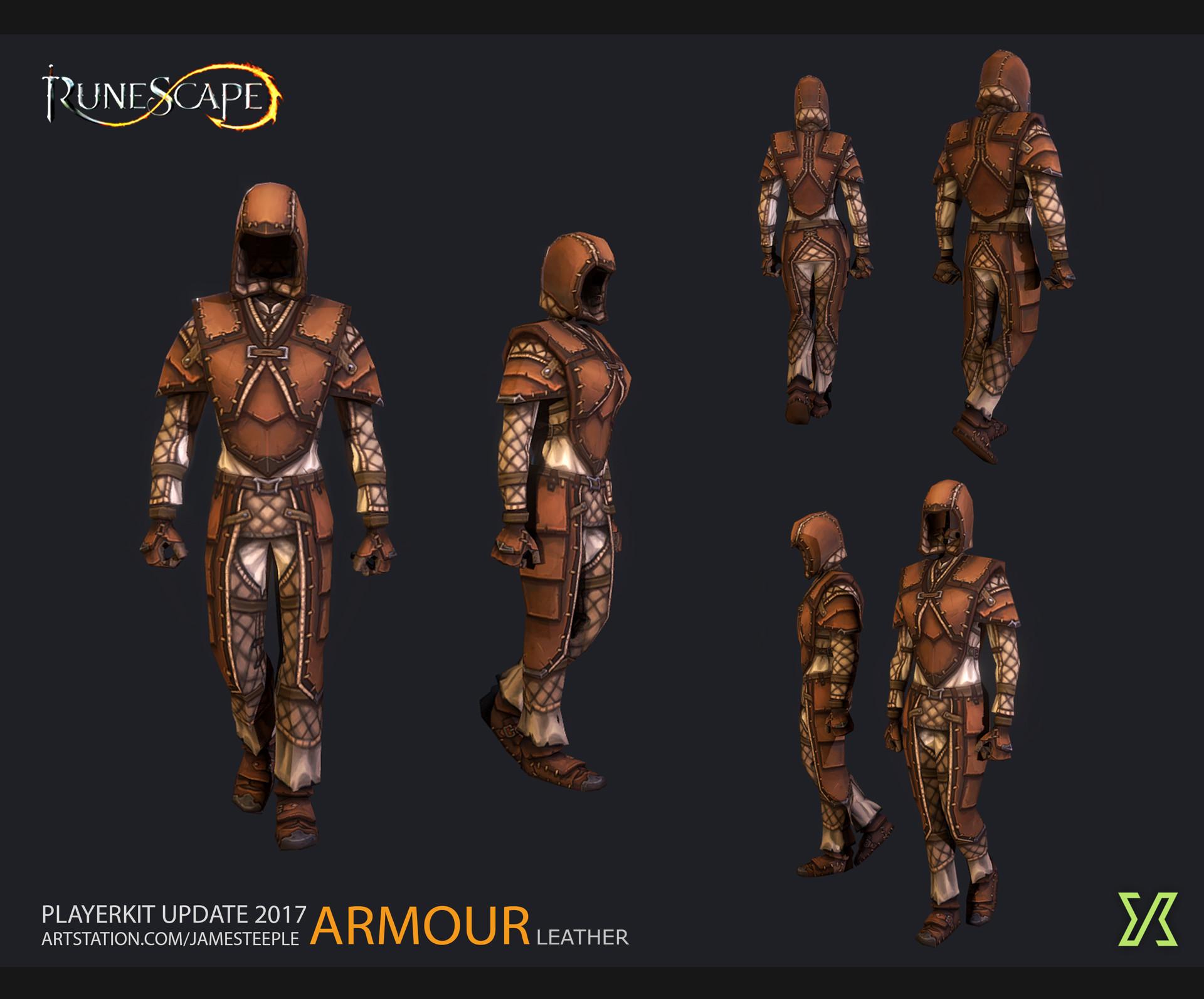 Artstation Runescape Leather Armour Reworks James Teeple