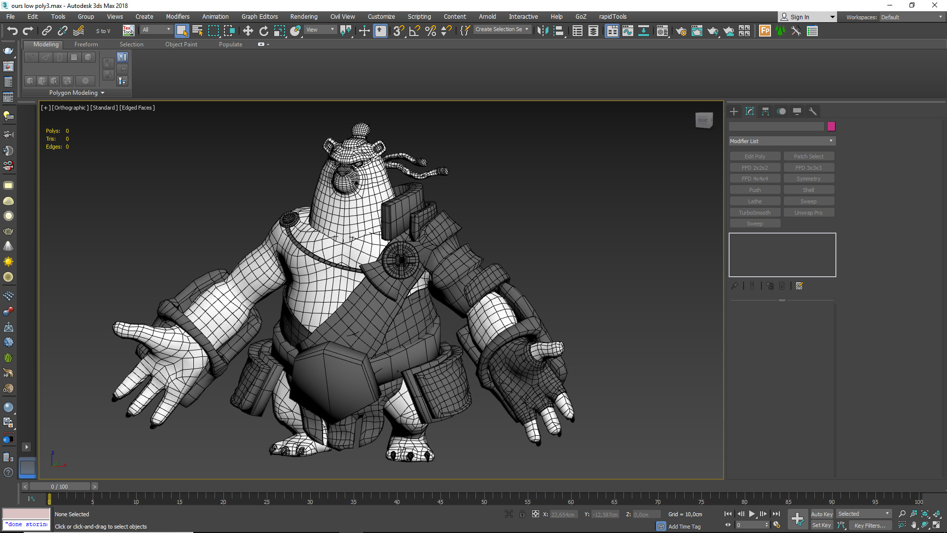 Low poly done in topogun and Max.