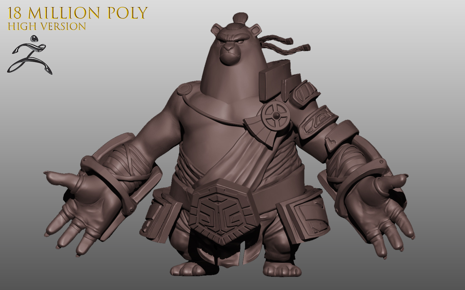 High poly version with ZBRUSH