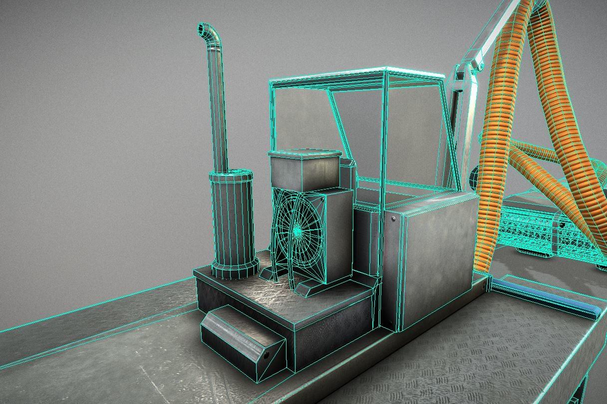Desludging robot - wireframe-view