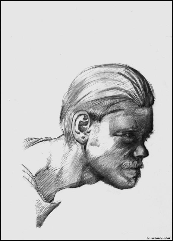 Portrait Personal Artwork Pencil Rendering on Illustration Board