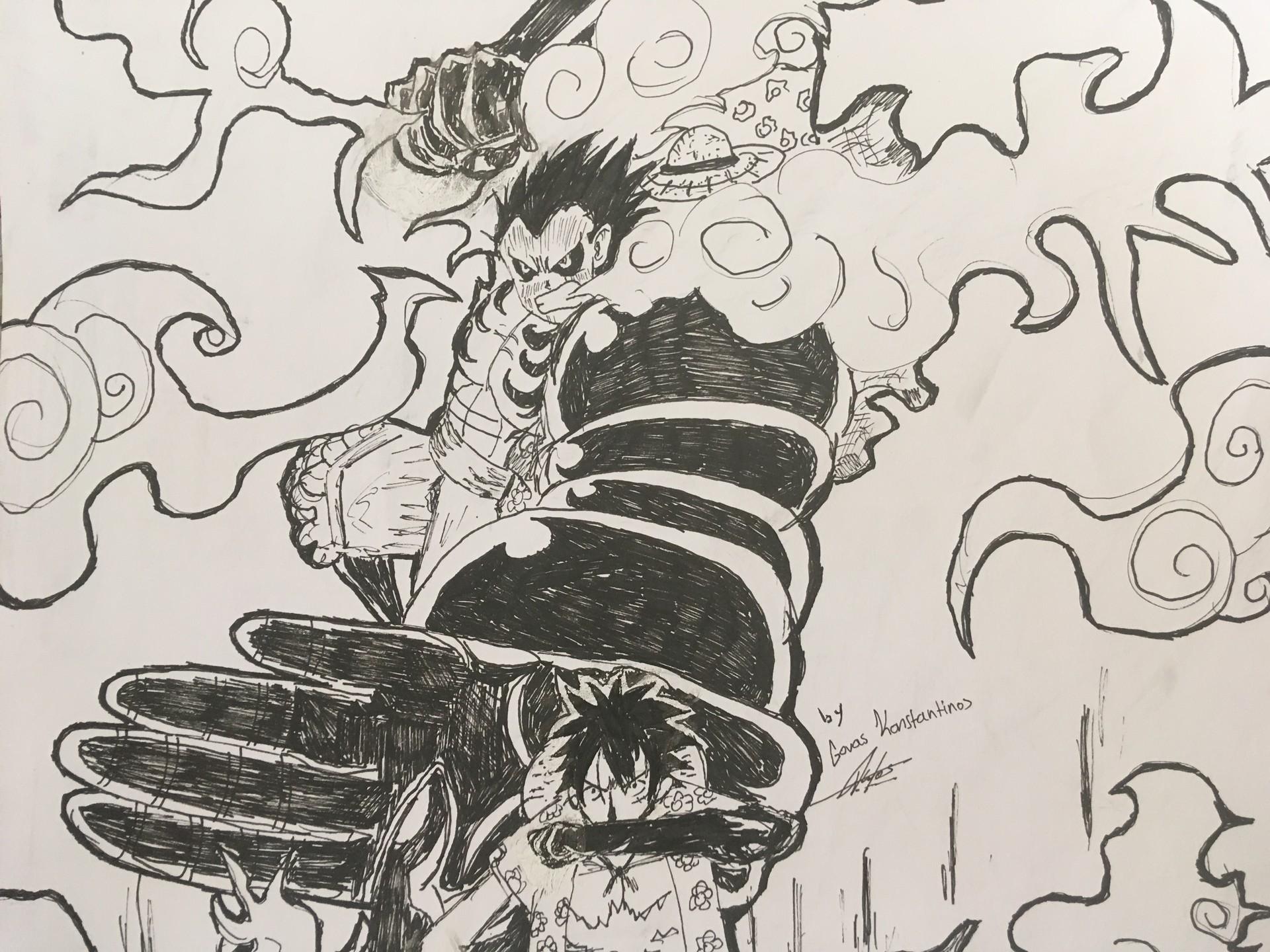 Songoku Gr Monkey D Luffy Gear 4