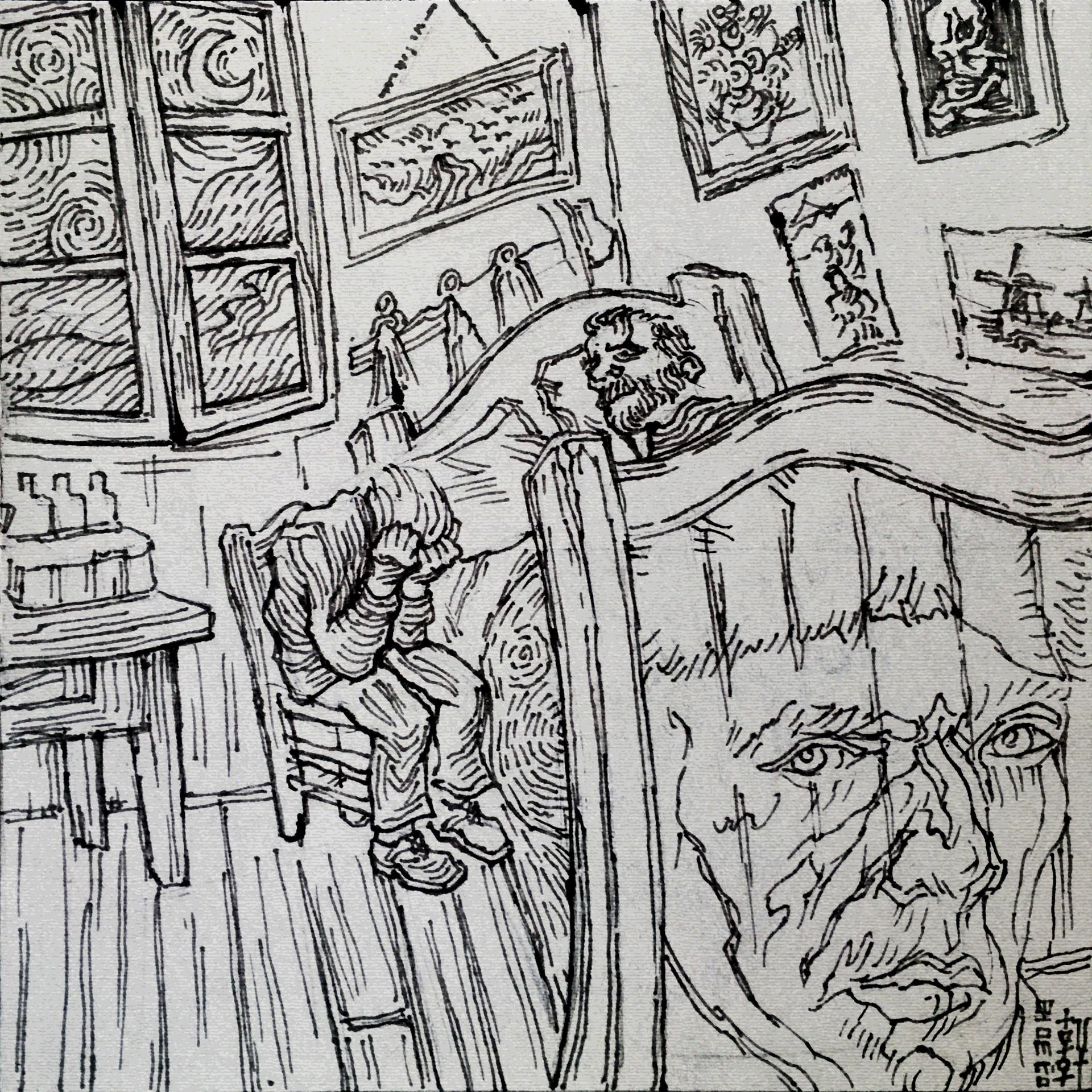 Day 03-30-18 - Van Gogh Sketch
