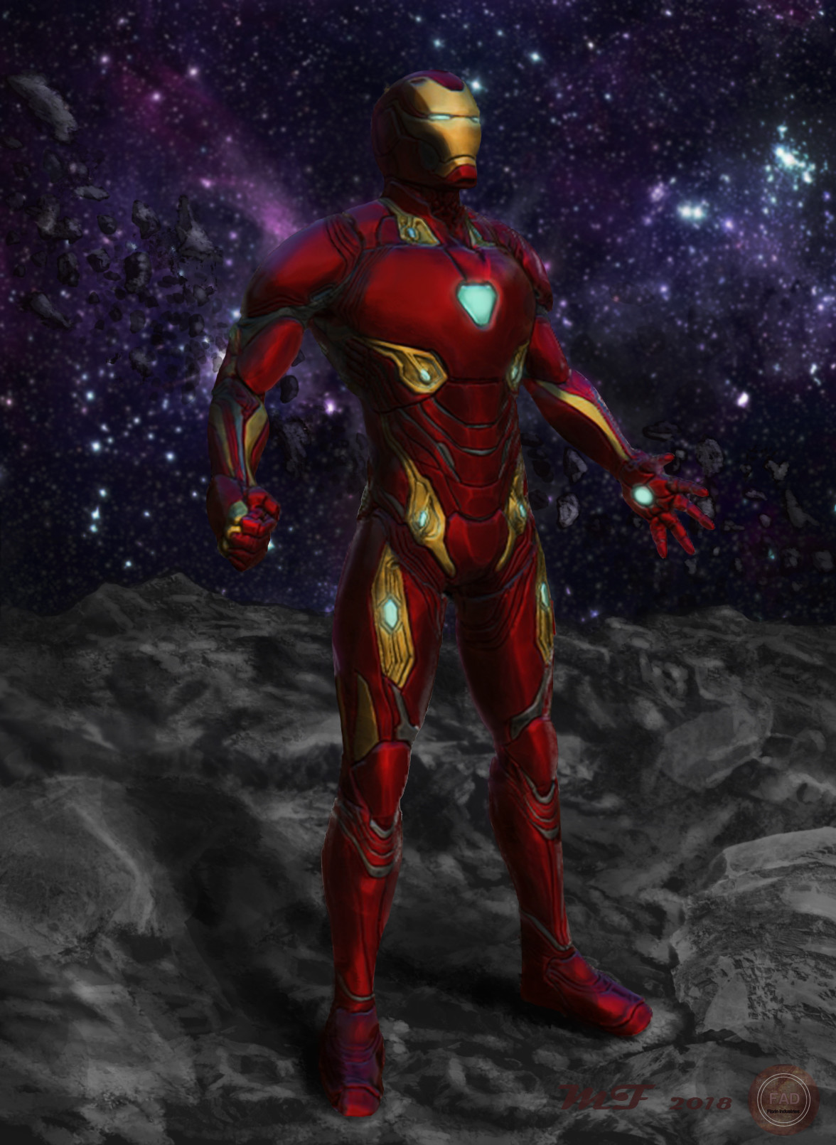 artstation - ironman mark 50, mathias florin hansen