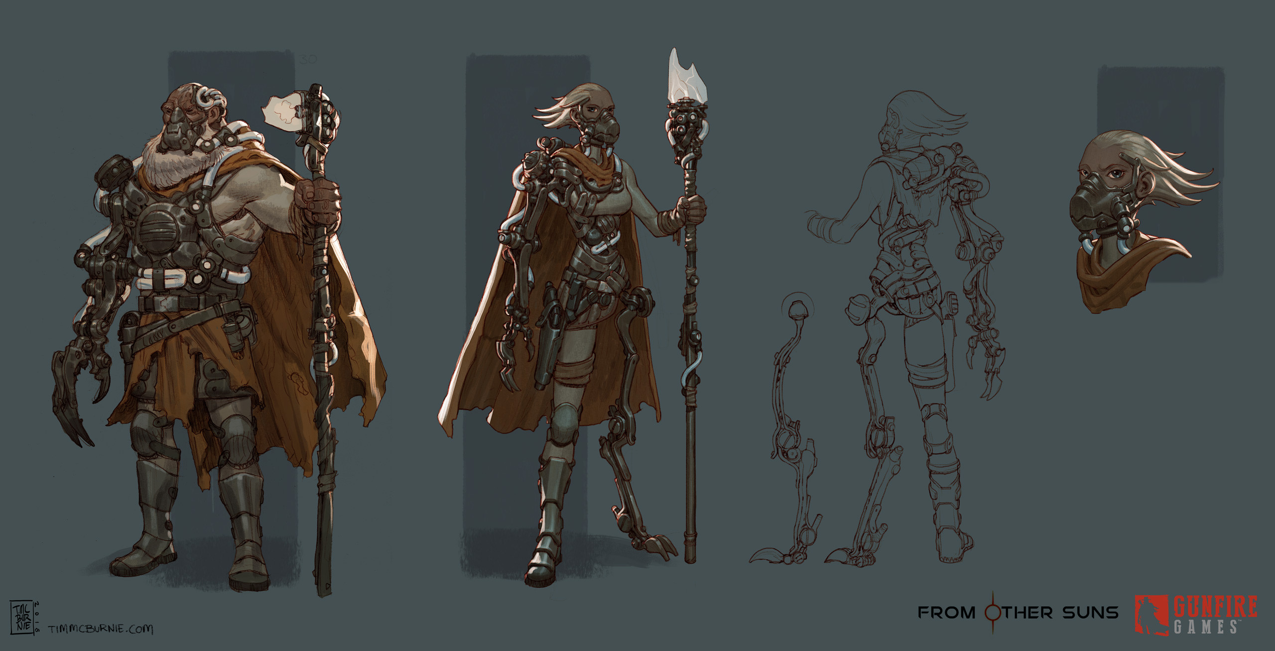 Finalised model sheet versions of the Captains.