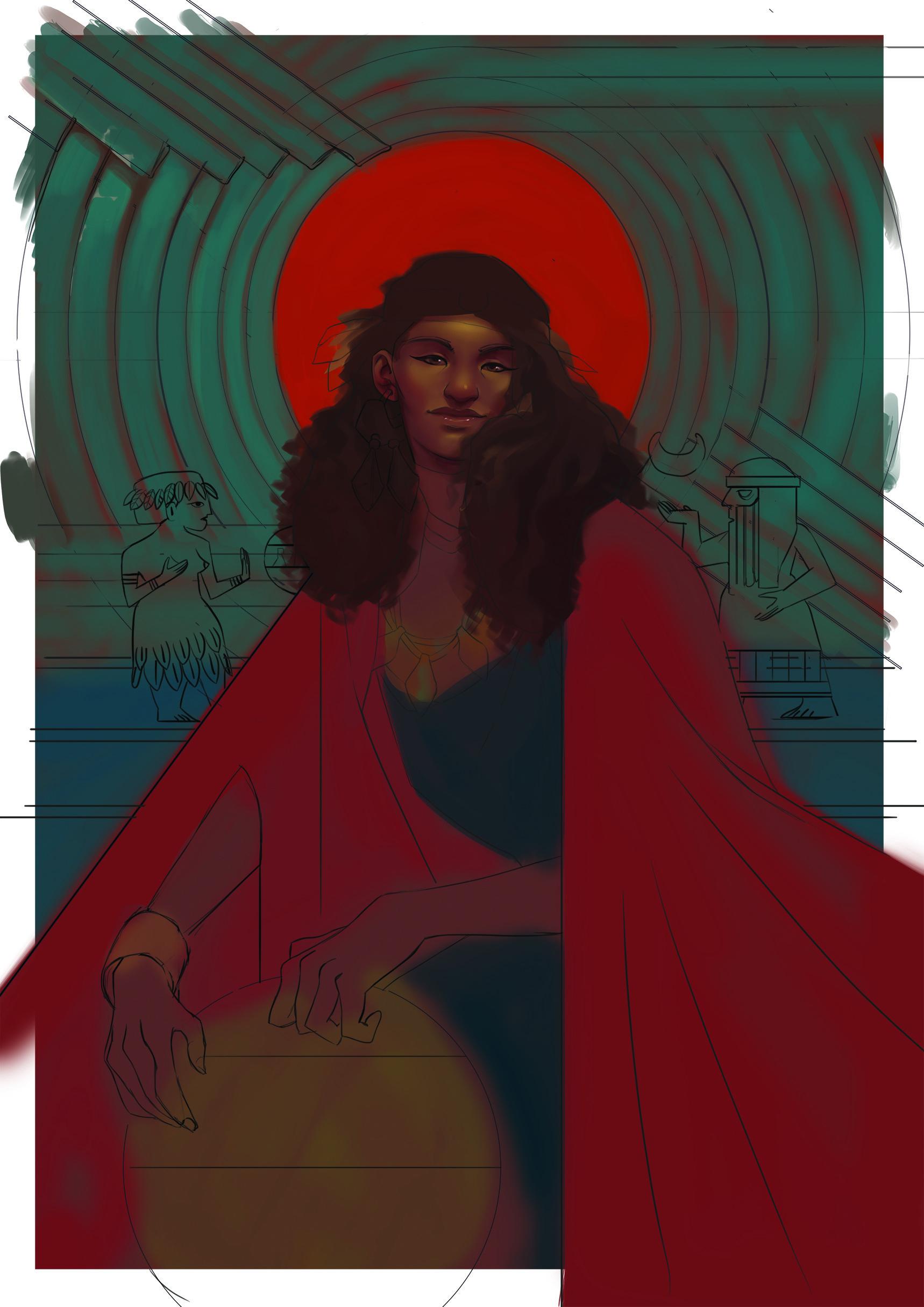 Cristina charneco enhaduanna ilustracion wip1