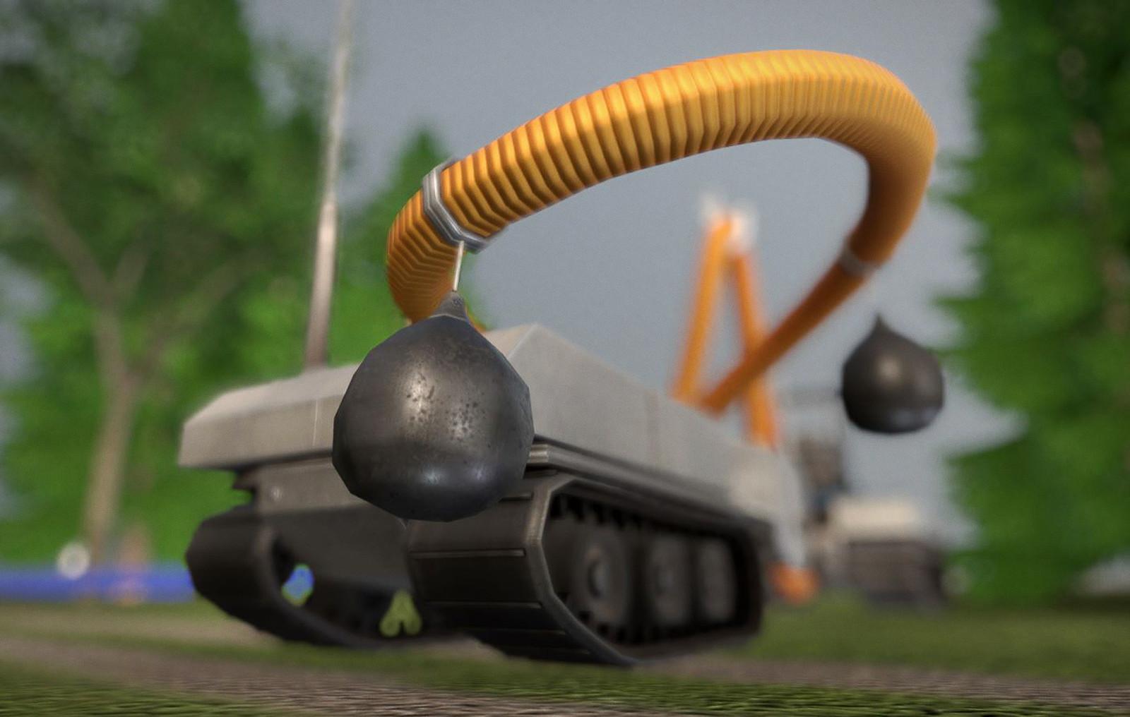 Vacuum robot ashore