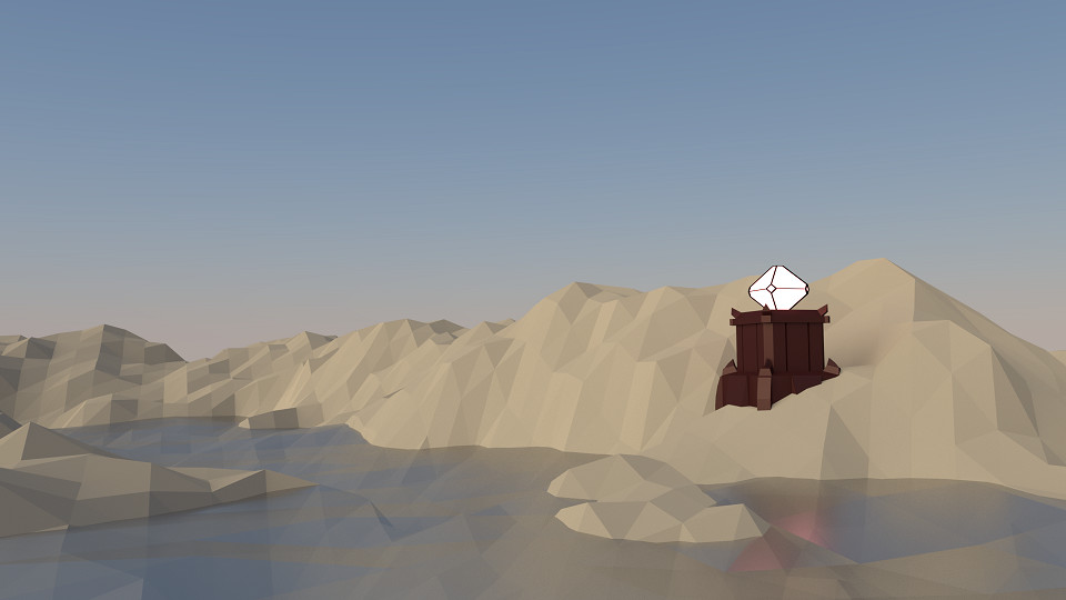 In a low-poly environment