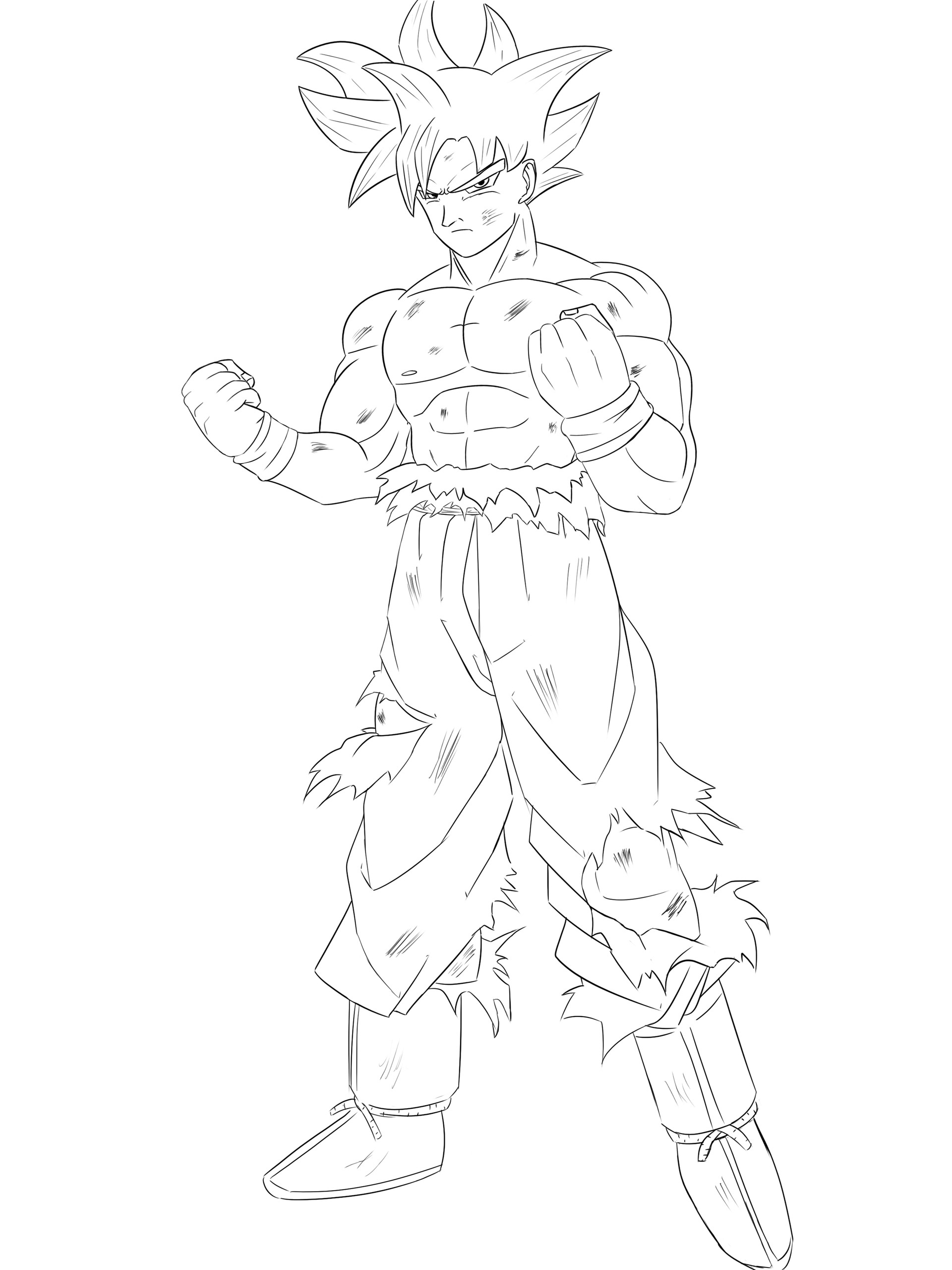 Drawing Mastered Ultra Instinct Goku Dragon Ball Super Art
