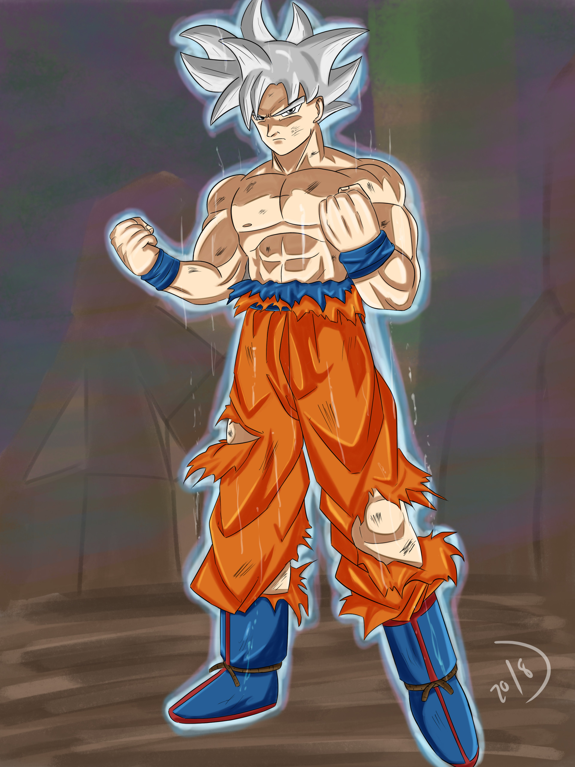 how to draw goku ultra instinct