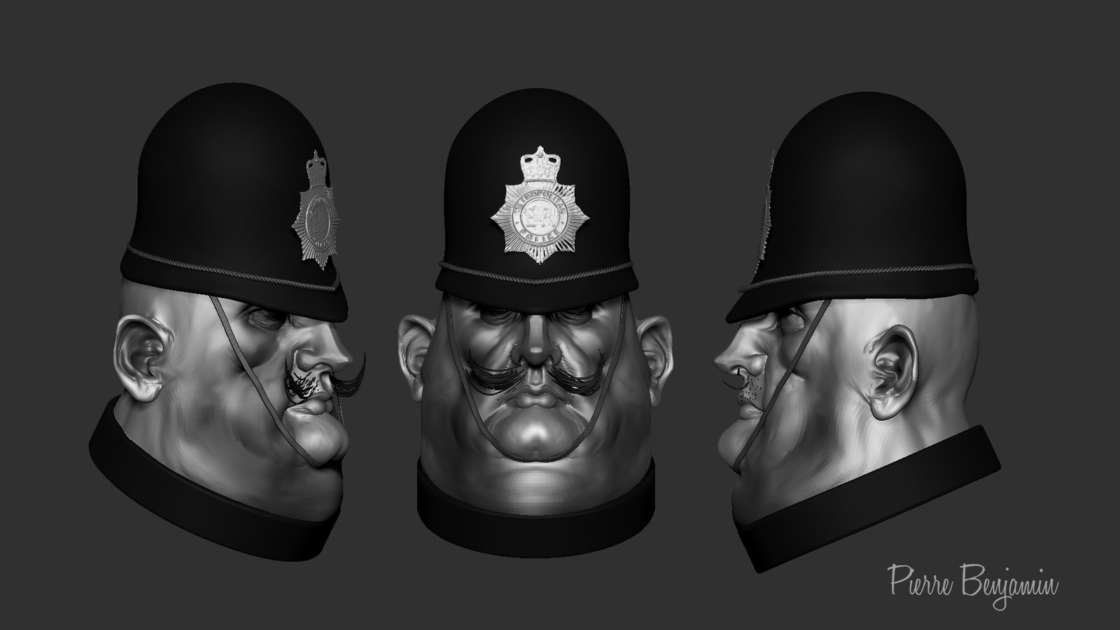 English cop speed sculpt WIP