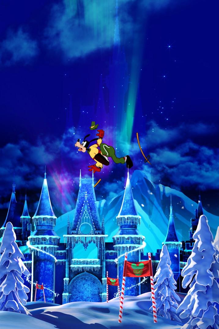 Goofy's big ski jump!