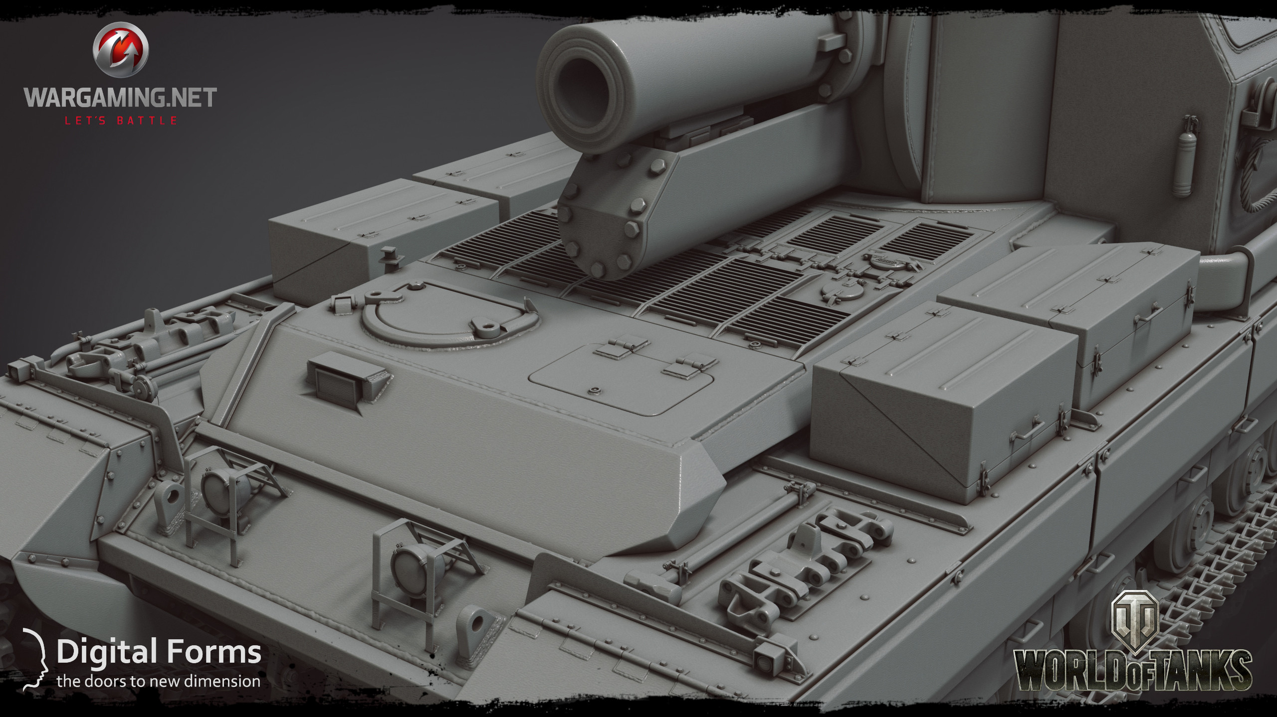 High-poly model