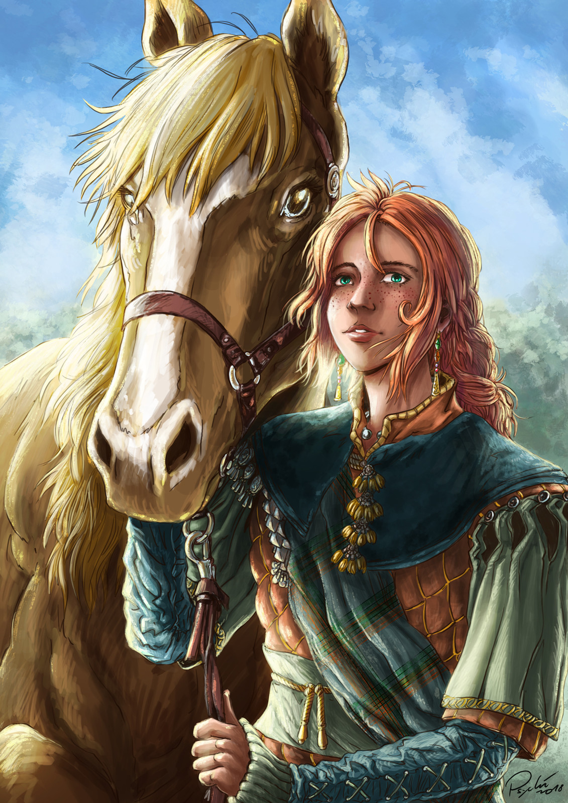 Lisa and horse