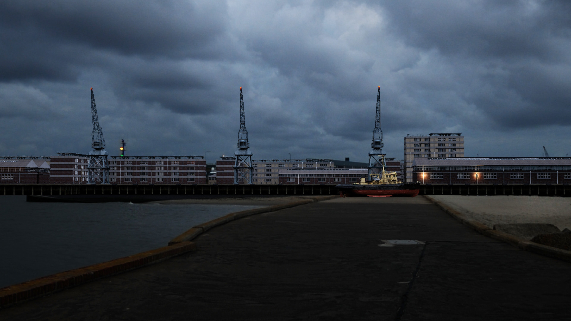 Port Buildings 02 (3dsMax)