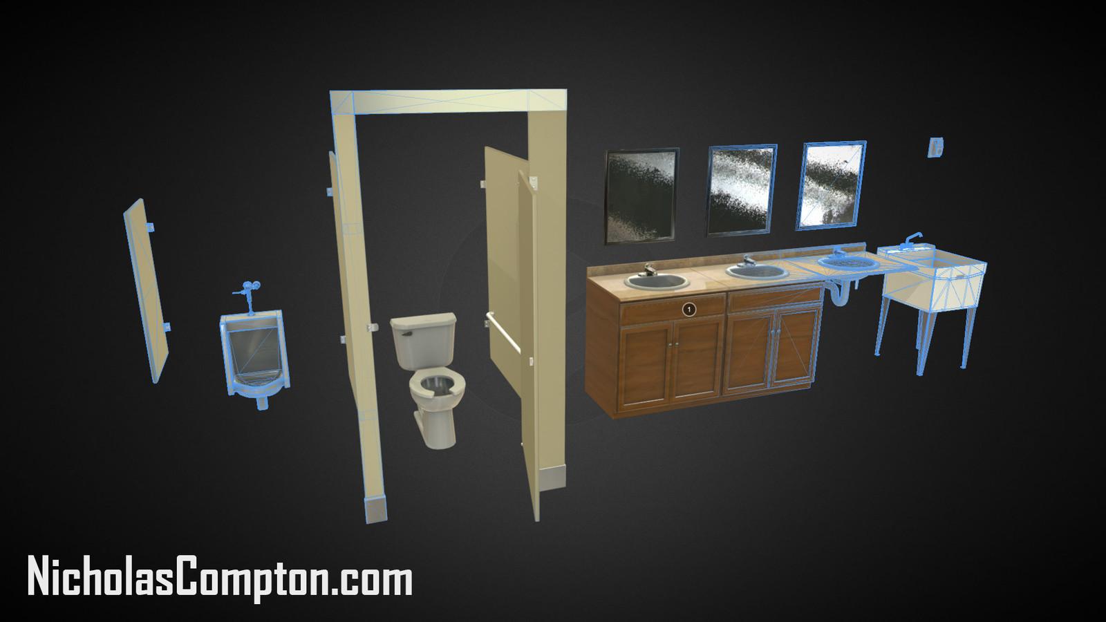 Restroom Set Render