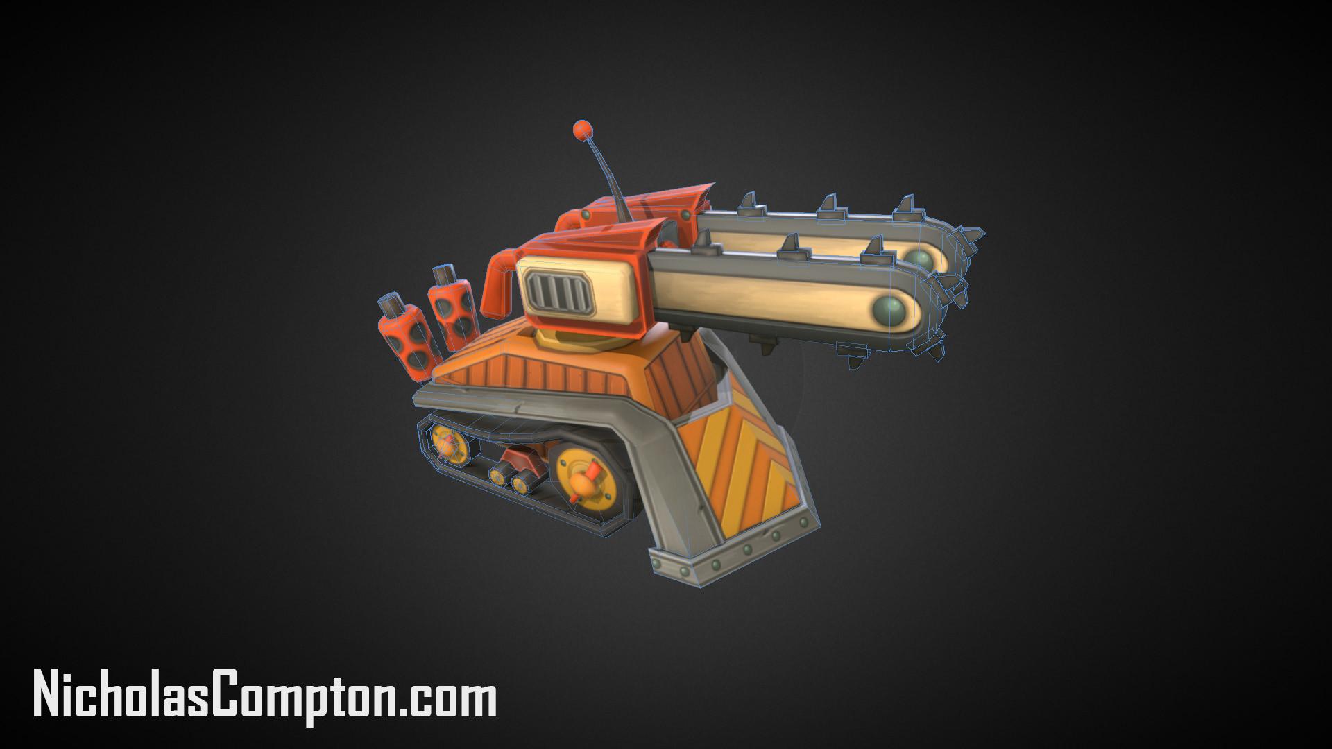 Chain Saw Tank Render
