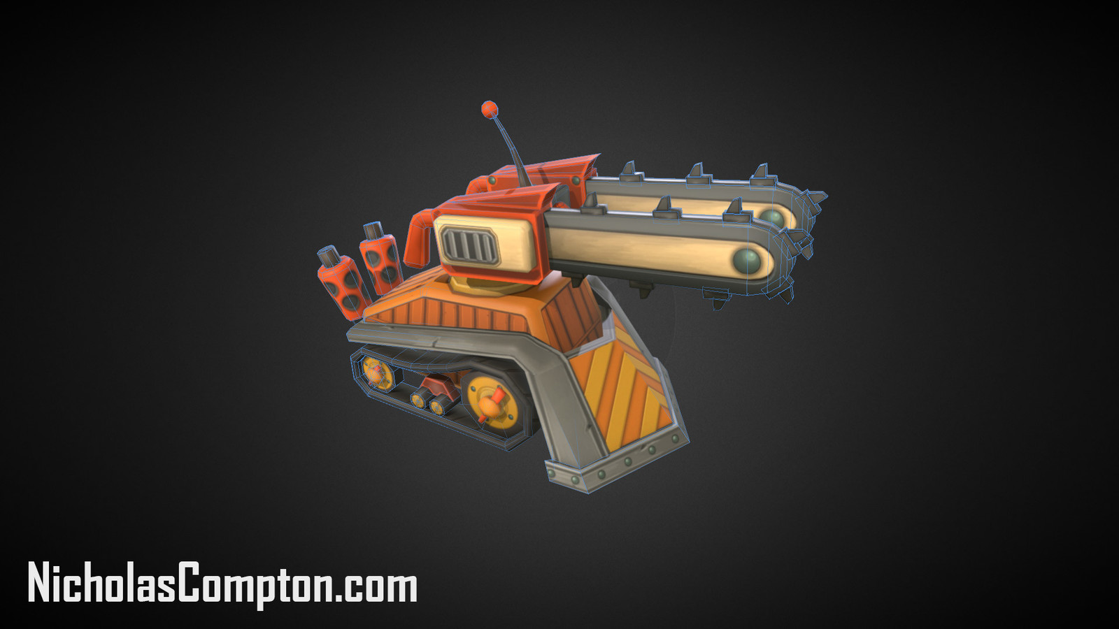 Chain Saw Tank Render
