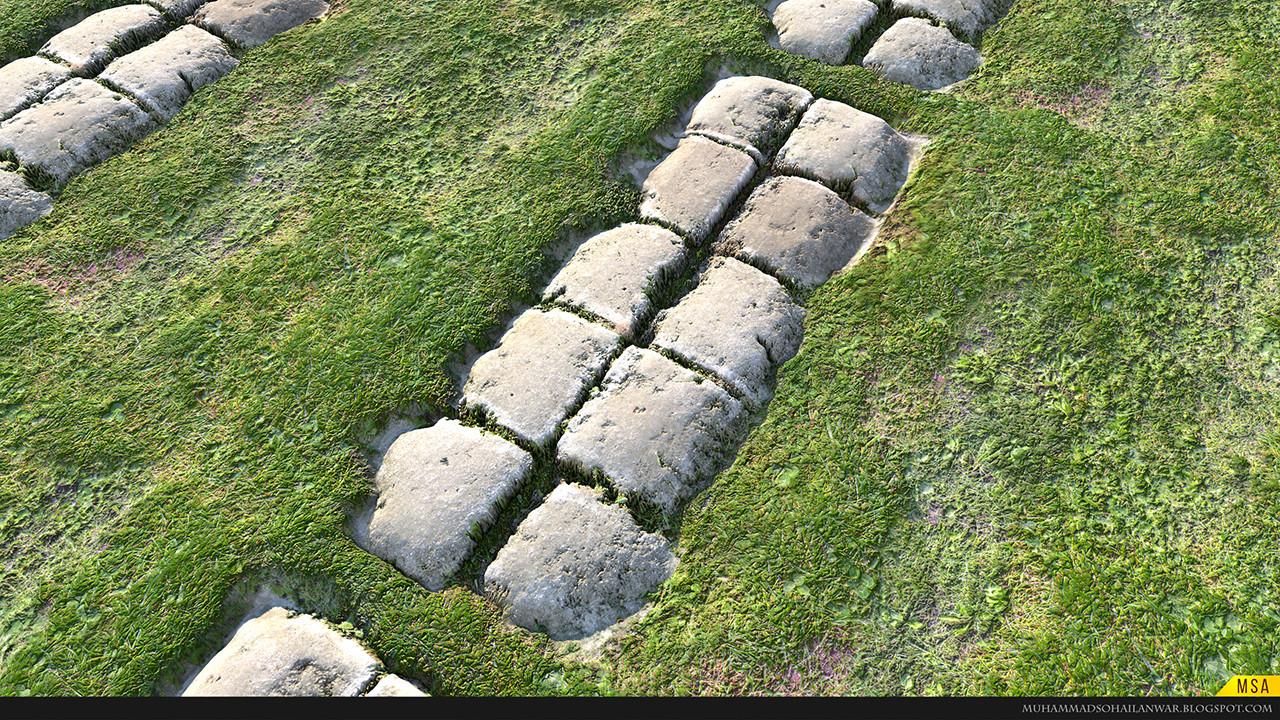 Cobble Stone Pathway