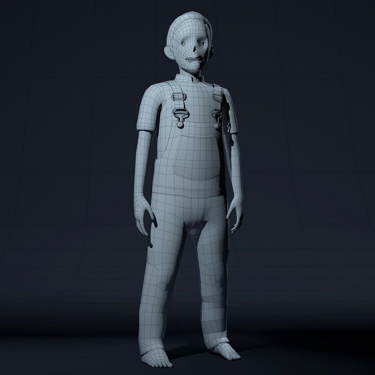 Roger borelli pumpkin wireframe render v01