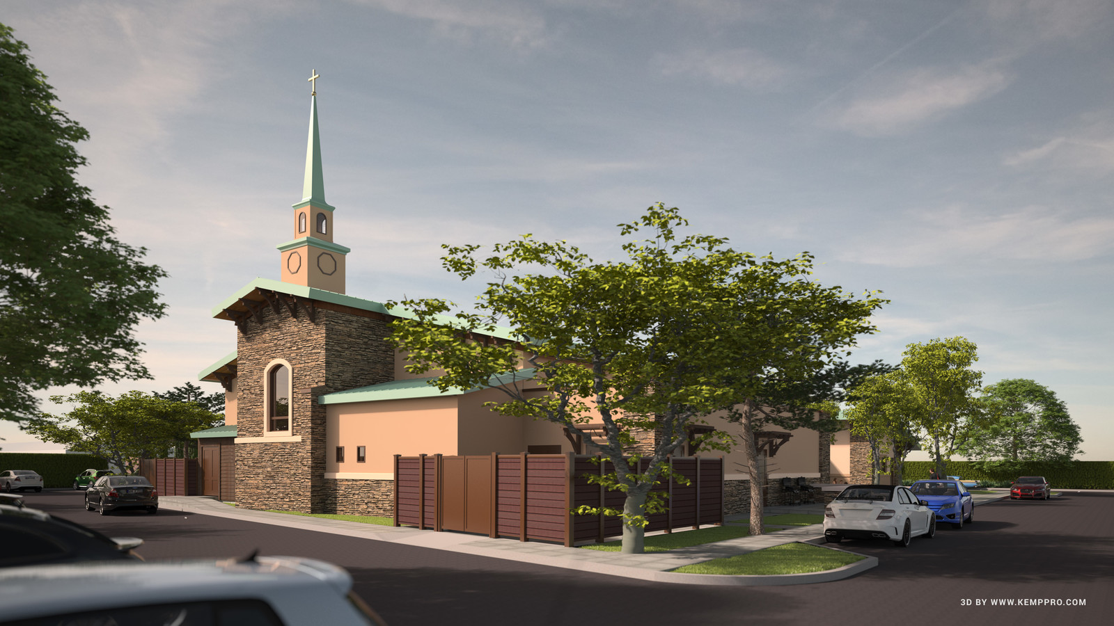 #SketchUp 2017 + #TheaRender  HFAC-CUP-Final-2nd-sky-Persp-NE-opt1-DK-2_CK  The Holy Family Catholic Church, American Canyon, CA. Project  Architect: Liturgical Environs PC  HDR by HDRI-SKIES found here: http://hdri-skies.com/shop/hdri-sky-300/