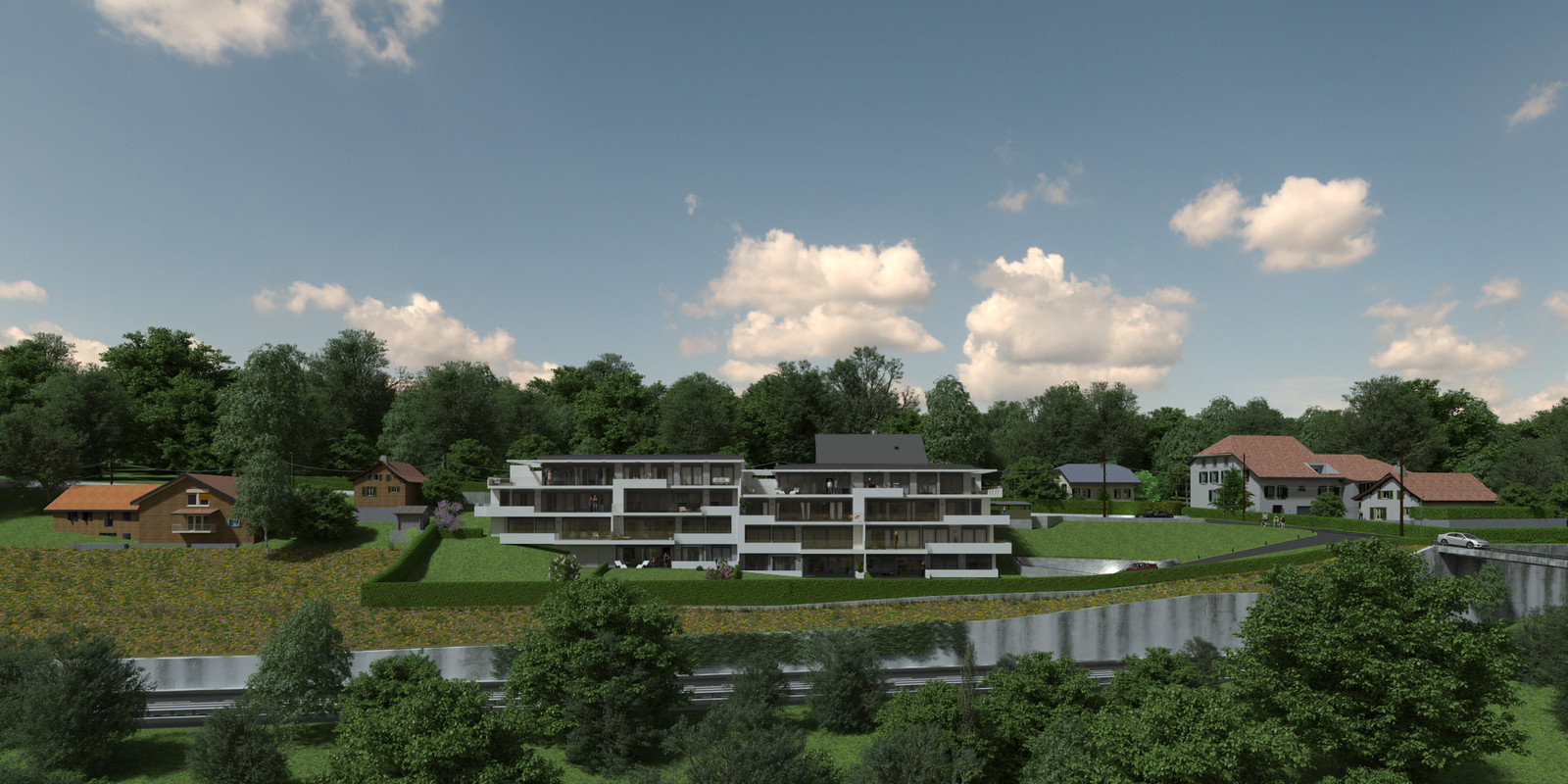 SketchUp 2018 + Thea Render  Project Lutry Thea Full work file 05 No Fog 2018-Scene 124 2 pt layers 309 hdr  HDR by HDRI-SKIES found here: http://hdri-skies.com/shop/hdri-sky-309/
