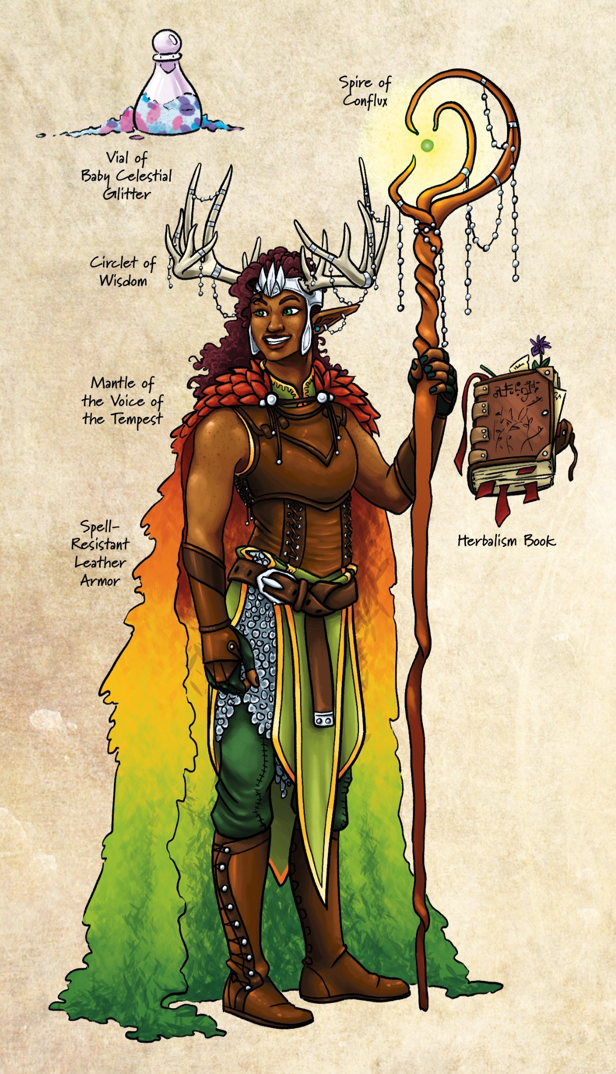 Artstation Critical Role Vox Machina Character Spread Grace Kooken +5 deflection bonus to armor class. critical role vox machina character