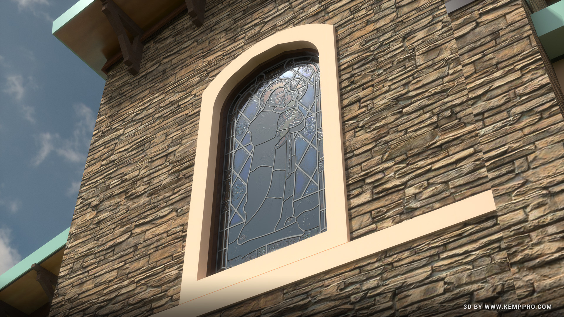 Duane kemp stained glass window scene 4 ck