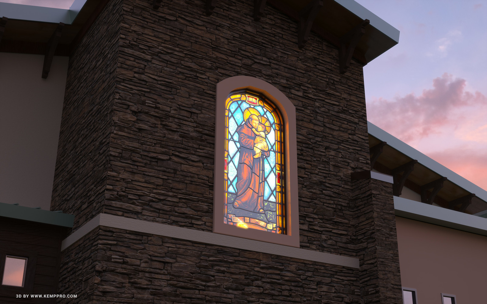 #SketchUp 2017 + #TheaRender   Stained-Glass-window-Fog-Scene-16_CK Window design and real-world construction by Judson Studios, Pasadena CA  HDR by HDRI-SKIES found here: http://hdri-skies.com/shop/hdri-sky-249/