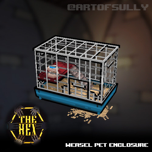Weasel Pet Enclosure (Asset for 'The Hex')
