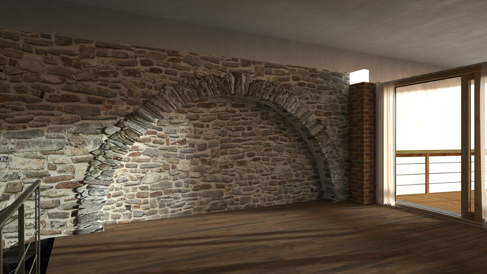 Rocks and Wall surface