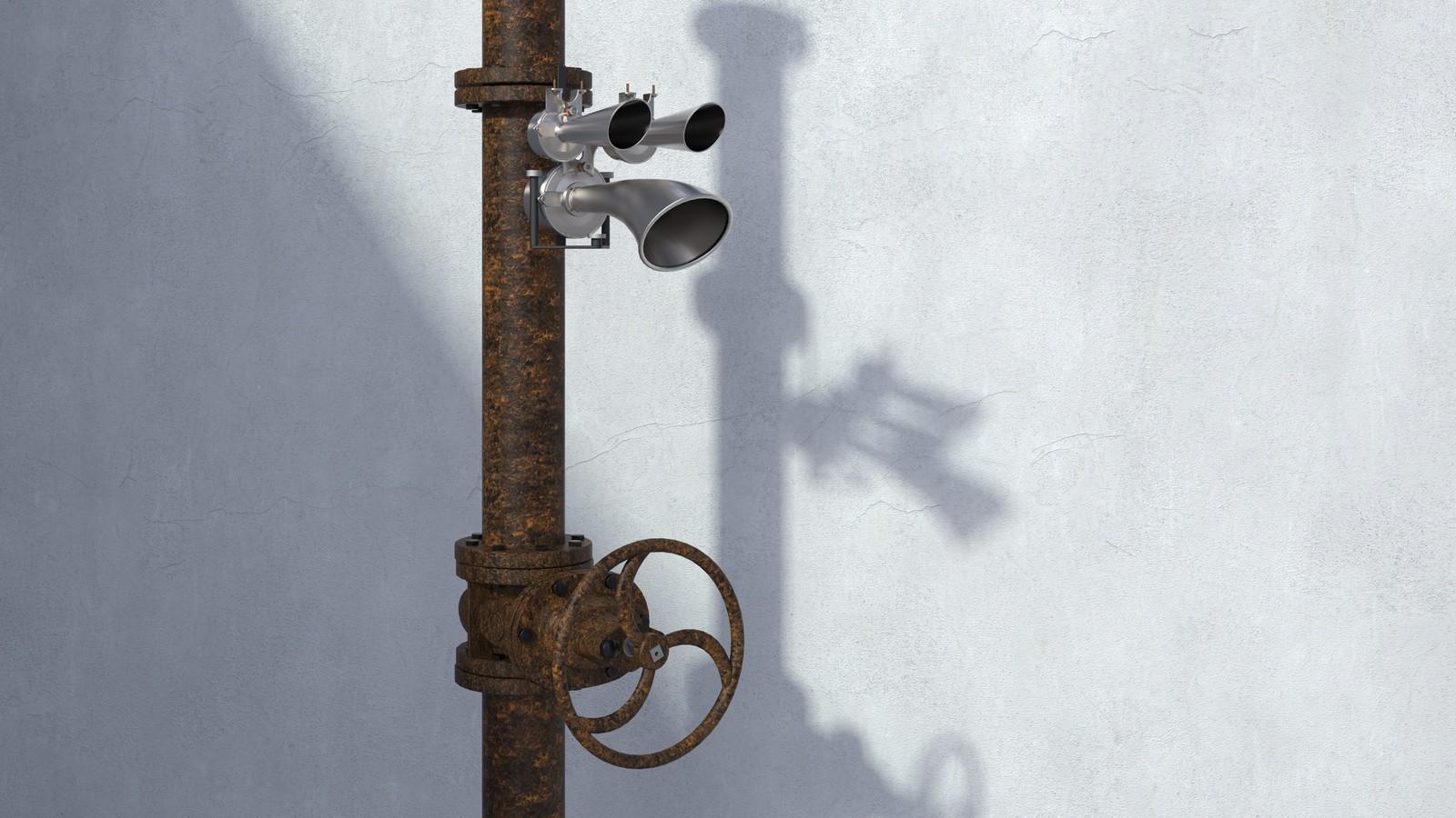 SketchUp + Thea Render  Rivendell Mill's Industrial Signal Warehouse Horn  Rivendell Horns 01 Final Scene 16