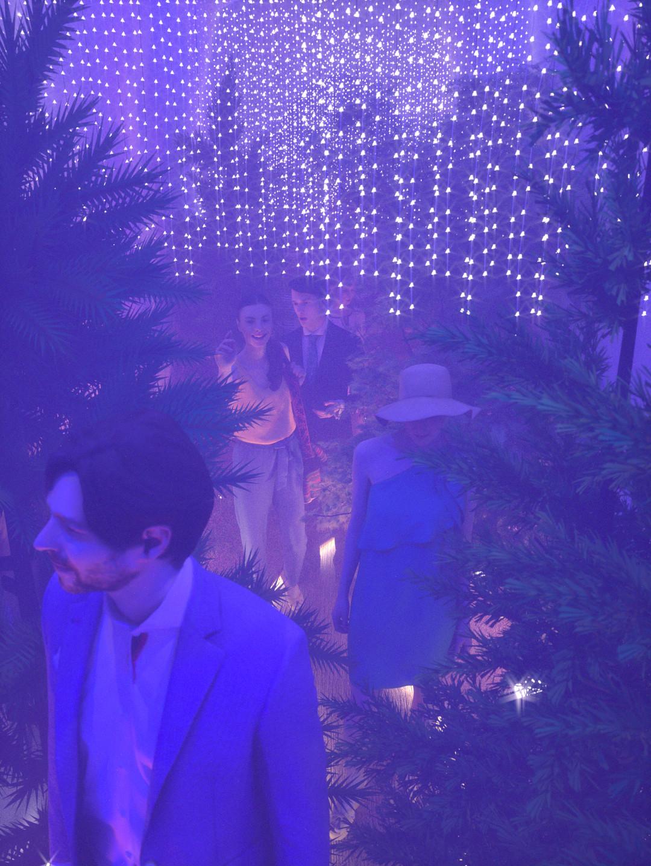 Duane kemp forest hallway scene 17 blue t pink b