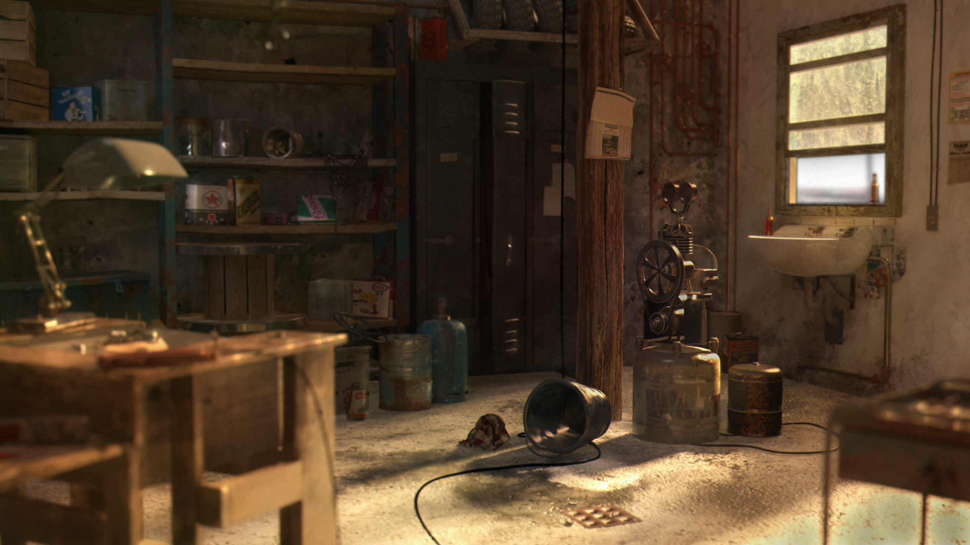 Artstation Old Garage Emilie Gomez