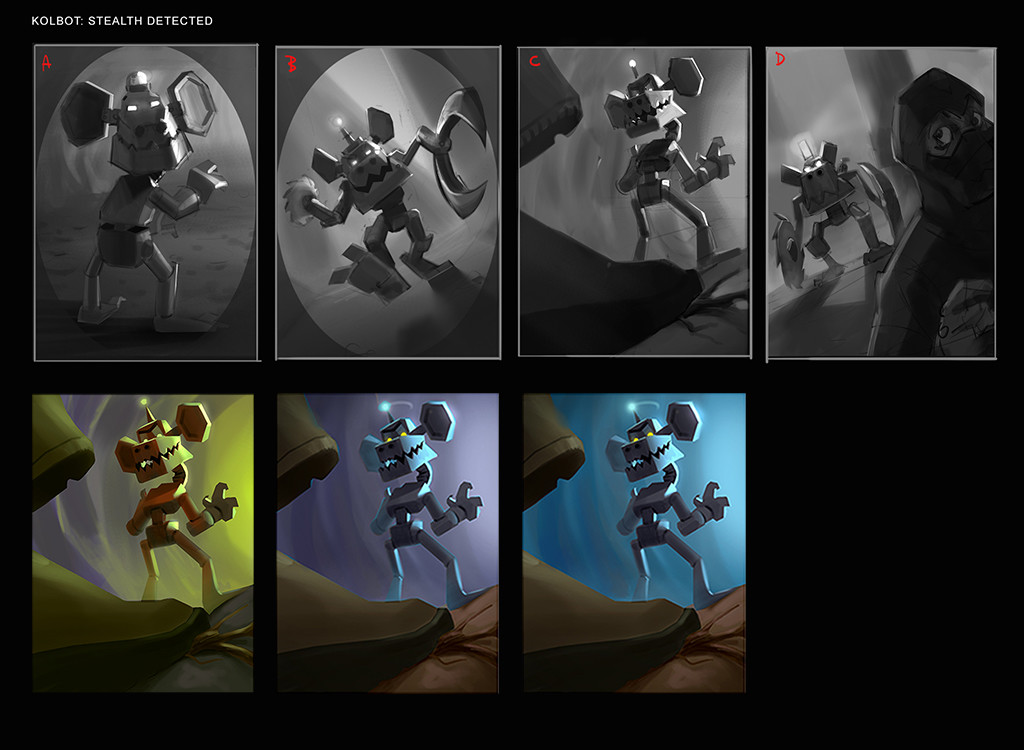 Thumbnails and color palettes.