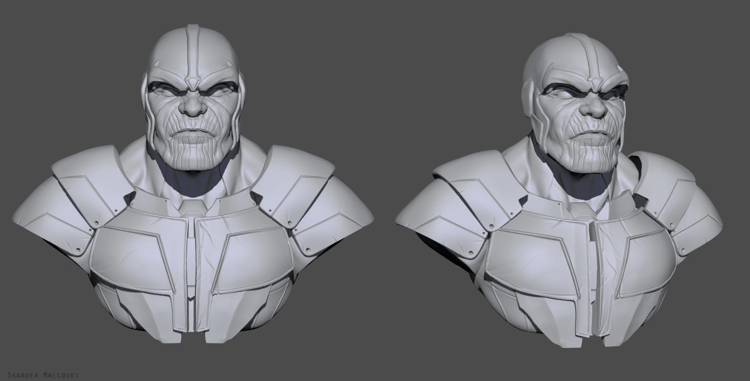 ArtStation - Thanos_Sculpture: ZBrush 2018 Sculptris Pro test