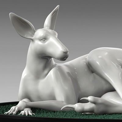 Jia hao kangaroo digitalsculpture 01