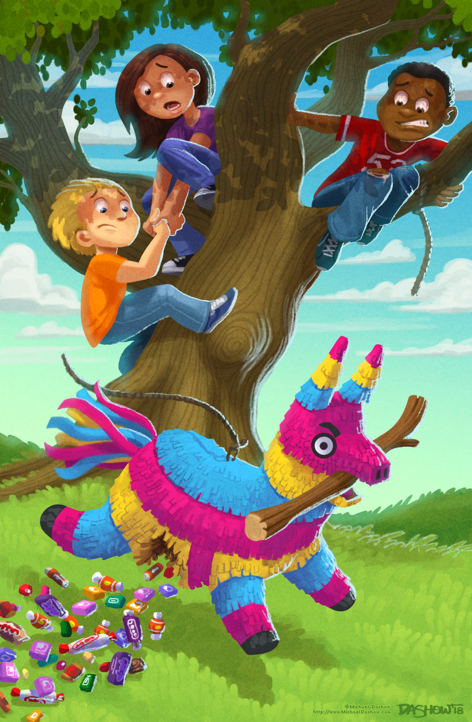 Michael dashow wild pinata 03 color 930x1422 signed