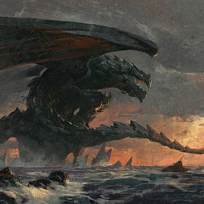 Greg rutkowski dragon coast 1920