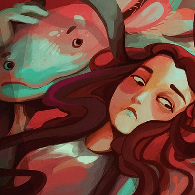 Vanessa morales axolotl paint by phonemova
