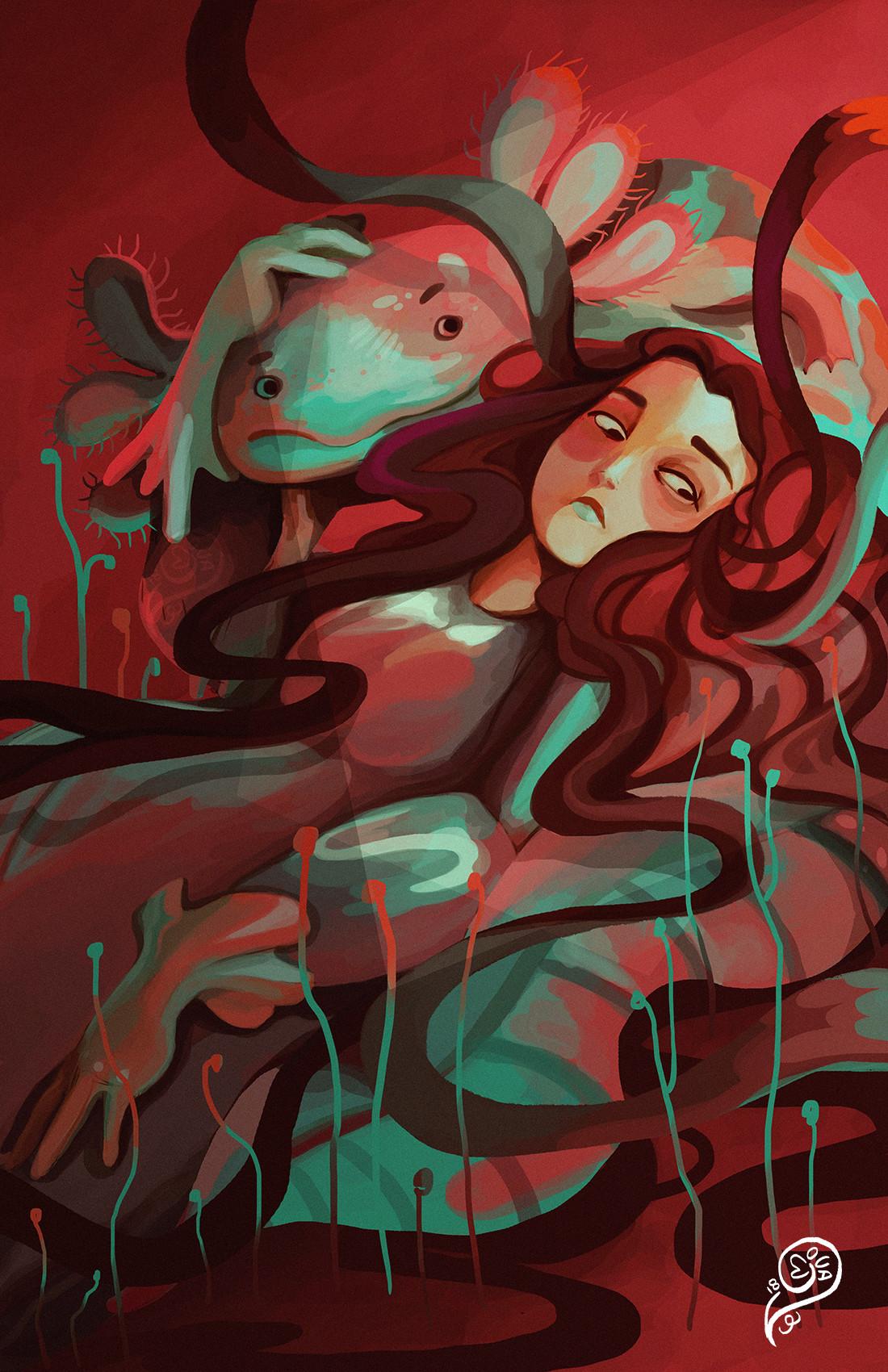Vanessa morales axolotl paint by phonemova