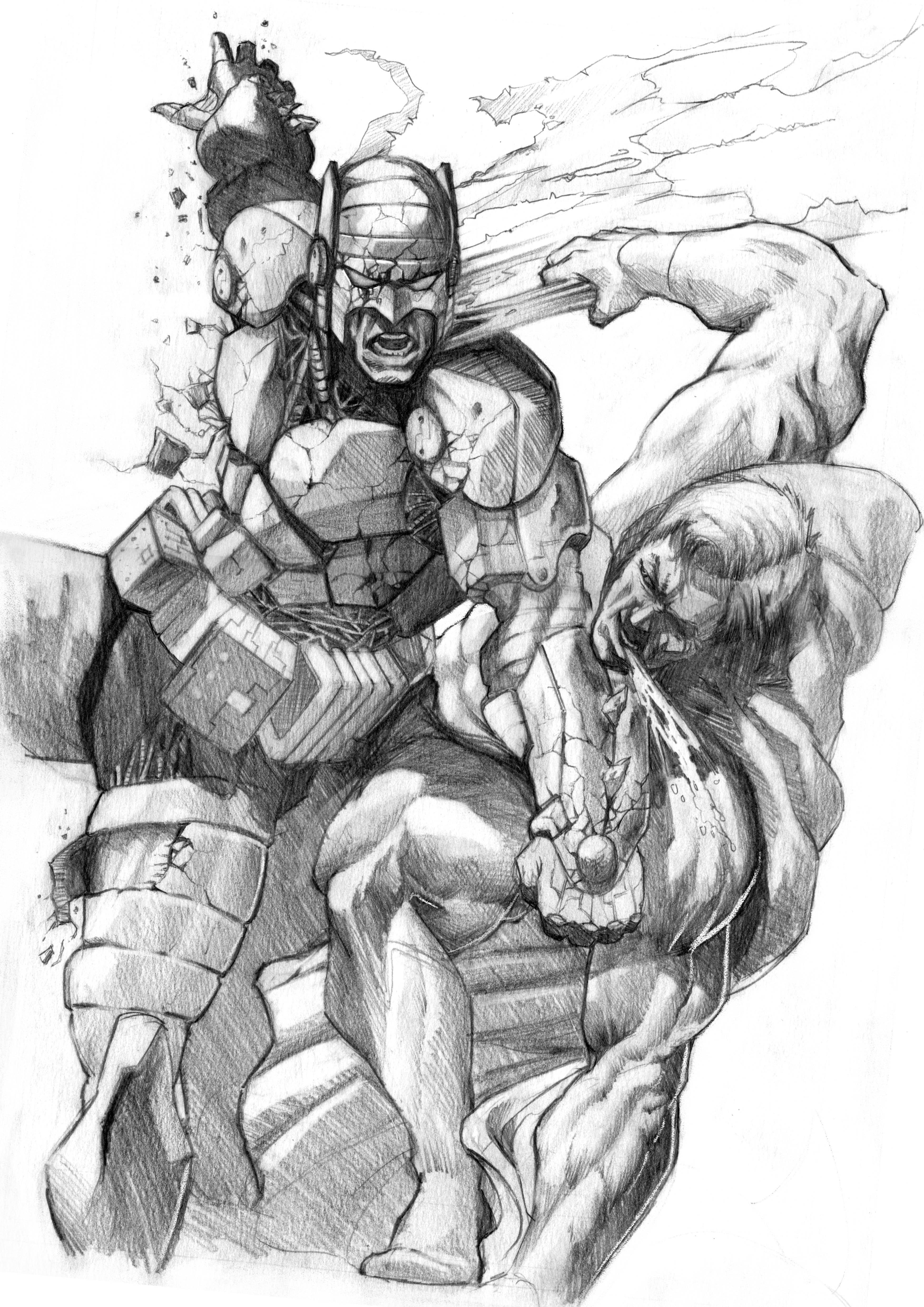 Batman v Superman Sketch