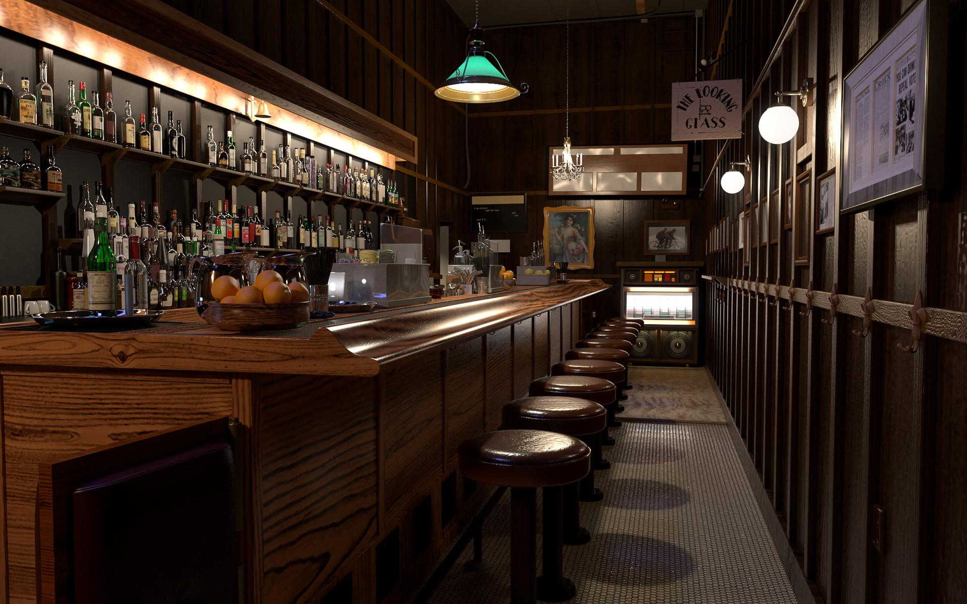Artstation Vintage Bar Kyle Owens
